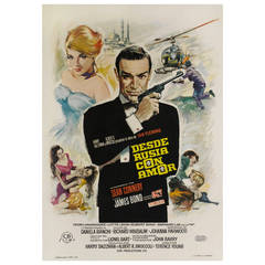 """Desde Rusia Con Amor """"From Russia With Love,"""" Original Spanish Movie Poster"""