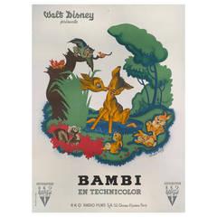 """Bambi"" Original French Movie Poster"
