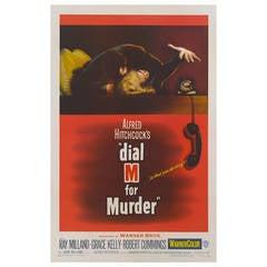 """Dial M for Murder,"" Original US Movie Poster"