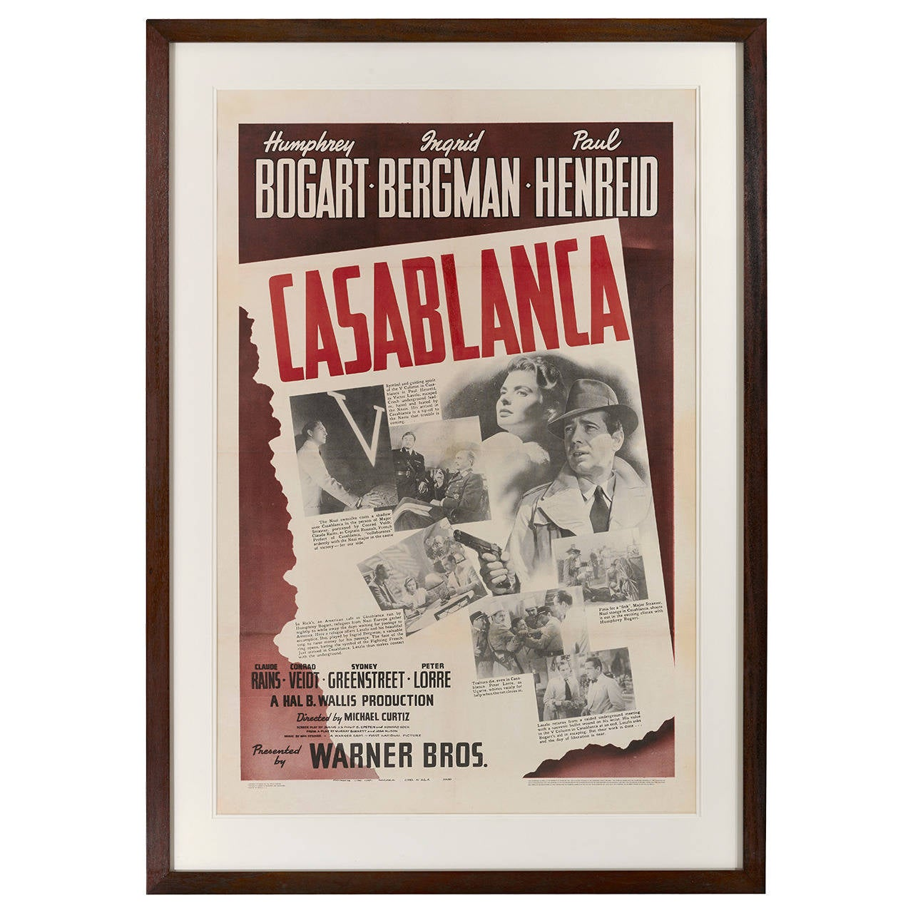 Casablanca film poster for sale at 1stdibs for Poster casablanca