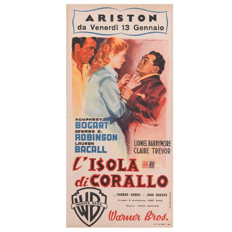 Key Largo / L'Isola Di Corallo, Original Italian Movie Poster For Sale