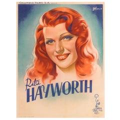 """Rita Hayworth"" Original French Movie Poster"
