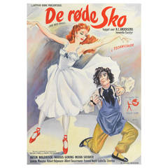 """""""The Red Shoes"""" Original Danish Movie Poster"""