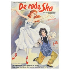 """The Red Shoes"" Original Danish Movie Poster"