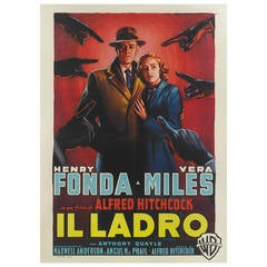 """Wrong Man"" or ""Il Ladro"" Film Poster"