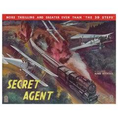 """Secret Agent"" Original British Advertisment Poster"