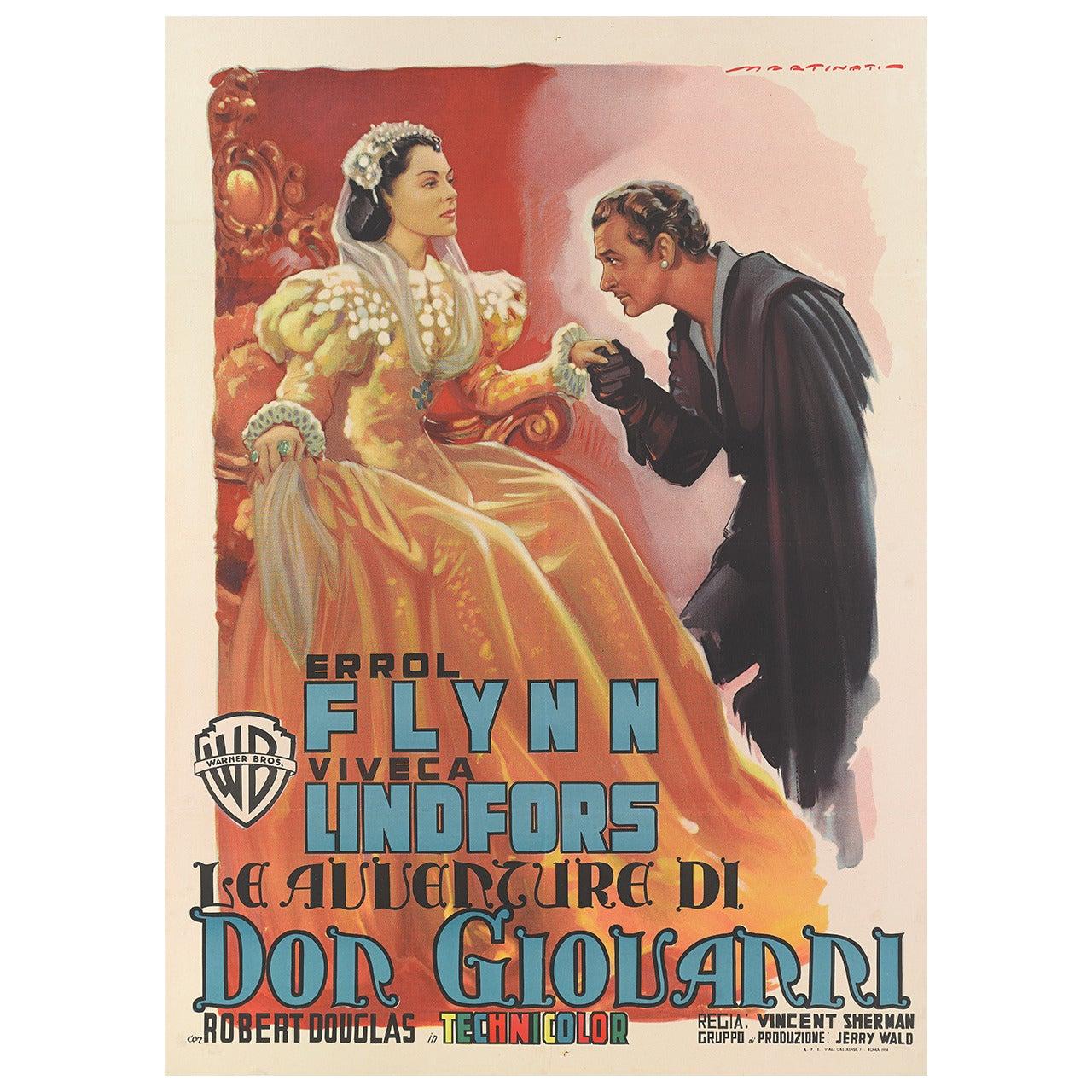 """The Adventures of Don Juan"" or ""Le Avventure di Don Giovarri"" Film Poster"