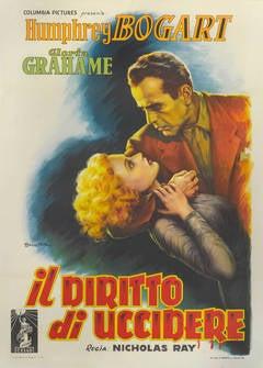 In a Lonely Place or Il Diritto Di Uccidere Film Poster