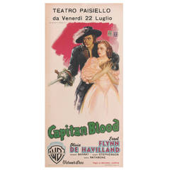 """Capitan Blood"" Original Italian Film Poster, 1935"