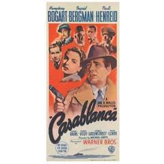 """Casablanca"" Original Australian Film Poster"