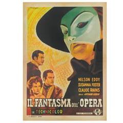 """""""Il Fantasma Dell'Opera"""" Original Italian Film Poster"""