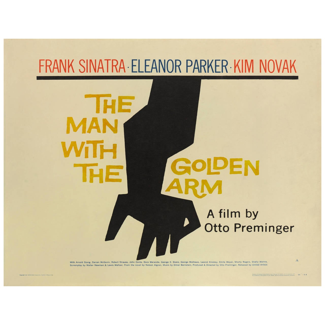 """The Man with the Golden Arm,"" Original US Film Poster For Sale"