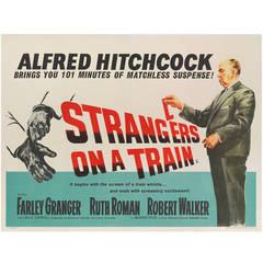 """Strangers On A Train,"" Original British Movie Poster"