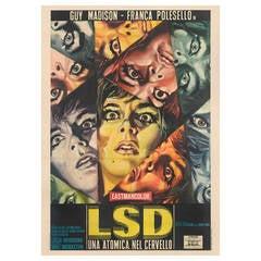 """LSD una Atomica nel Cervello,"" Original Italian Movie Poster"