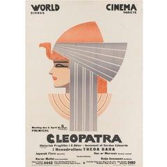 """Cleopatra"" Original Swedish Film Poster, 1917"