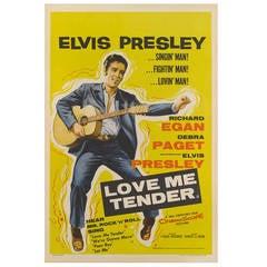 """""""Love Me Tender"""" Original British Film Poster"""