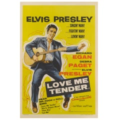 """Love Me Tender"" Original British Film Poster"