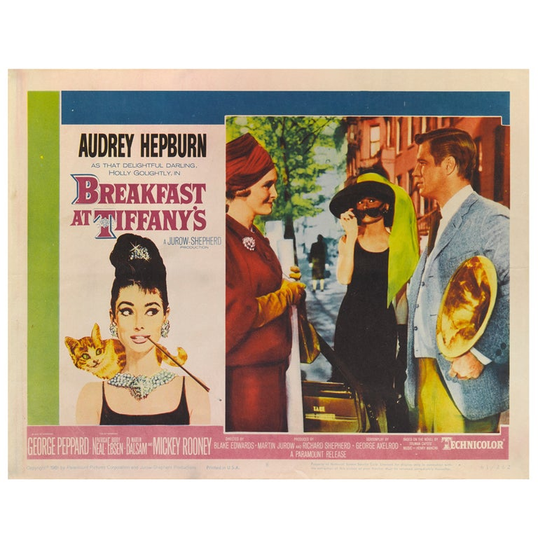 """""""Breakfast At Tiffany's"""" Lobby Card For Sale"""