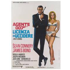 """""""Dr. No / Agente 007 Licenza Di Uccioere,"""" Italian Movie Poster"""