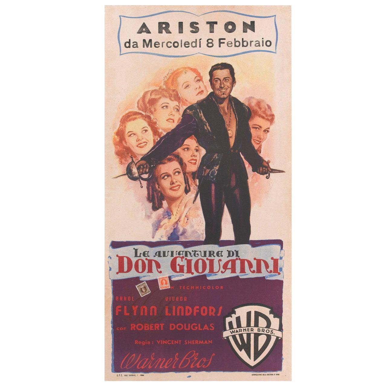 """Adventures of Don Juan """"Le Avventure di Don Giovanni"""" Poster"""