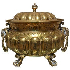 Large 19th Century French Bronze Louis XVI Style Jardiniere with Lid