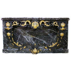 A French Regence Style Marble and Iron Console Table