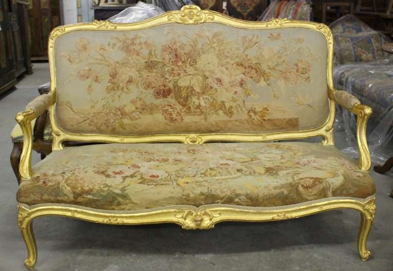 A french louis xv style carved giltwood salon at 1stdibs for Salon louis xv