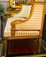 french louis xvi style giltwood banquette at 1stdibs. Black Bedroom Furniture Sets. Home Design Ideas