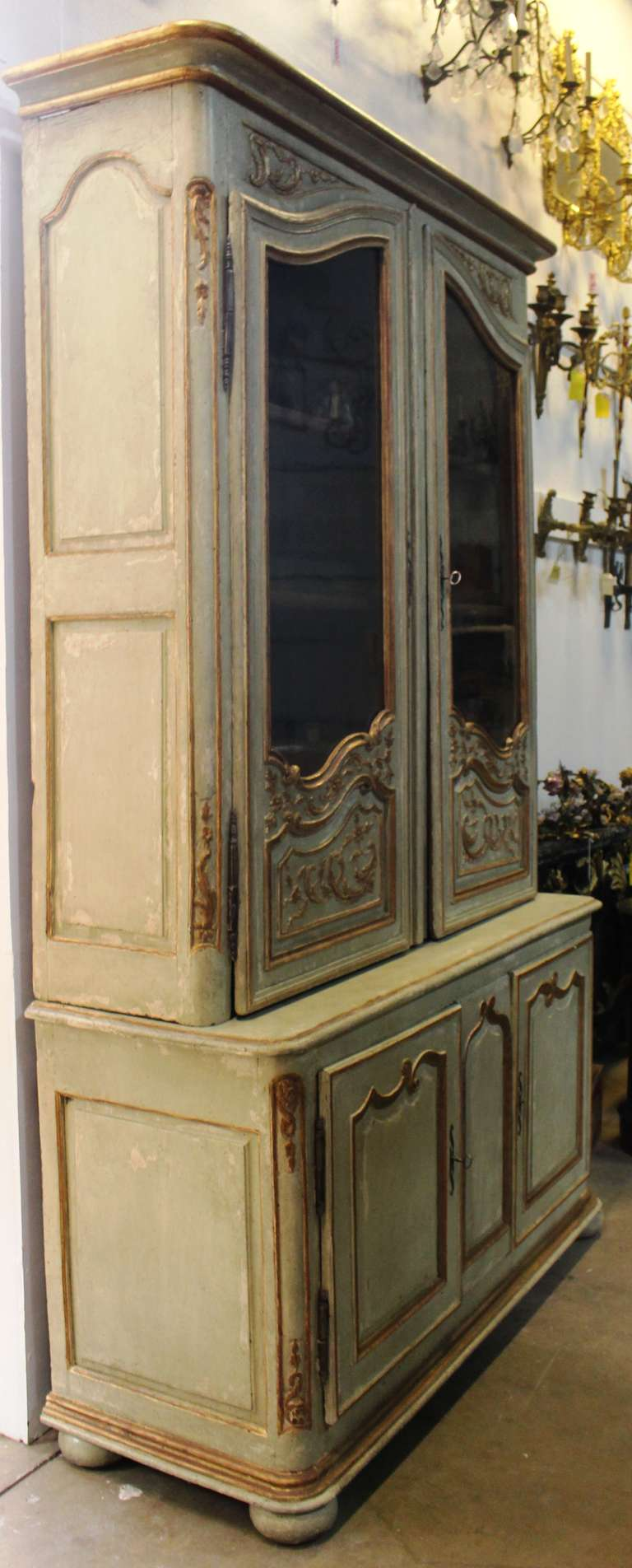 painted and parcel gilt french regence bibliotheque for. Black Bedroom Furniture Sets. Home Design Ideas