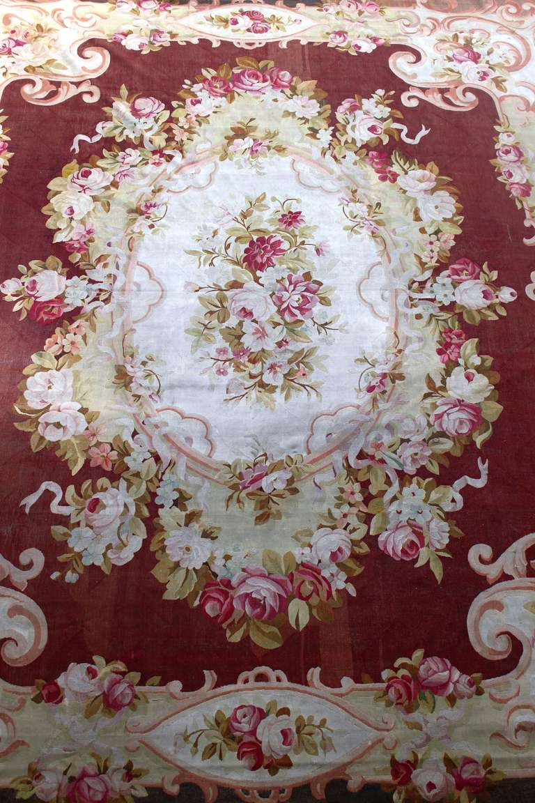 French 19th Century Napoleon Iii Aubusson Rug For Sale At