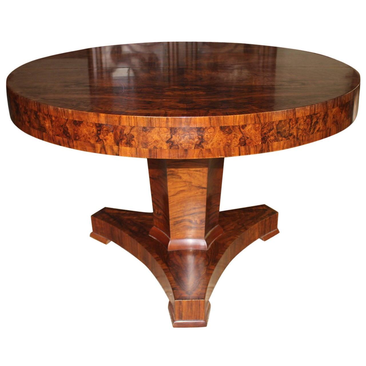 french art deco burled rosewood extension dining table at 1stdibs. Black Bedroom Furniture Sets. Home Design Ideas