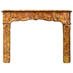 French Regence Style Breche d'Alep Marble Mantel
