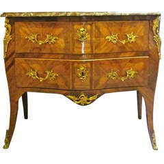 French Louis XV Marquetry Commode