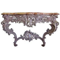 French Louis XV Style Console