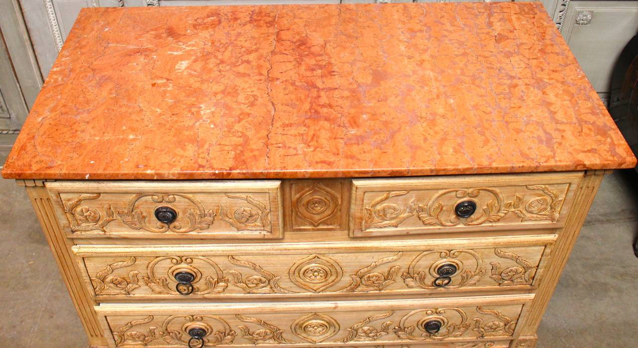 French colonial louis xvi style carved wood commode with - Commode style colonial ...
