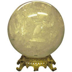 French Rock Crystal Sphere