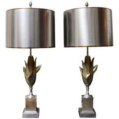Pair of Maison Charles Corn Lamps