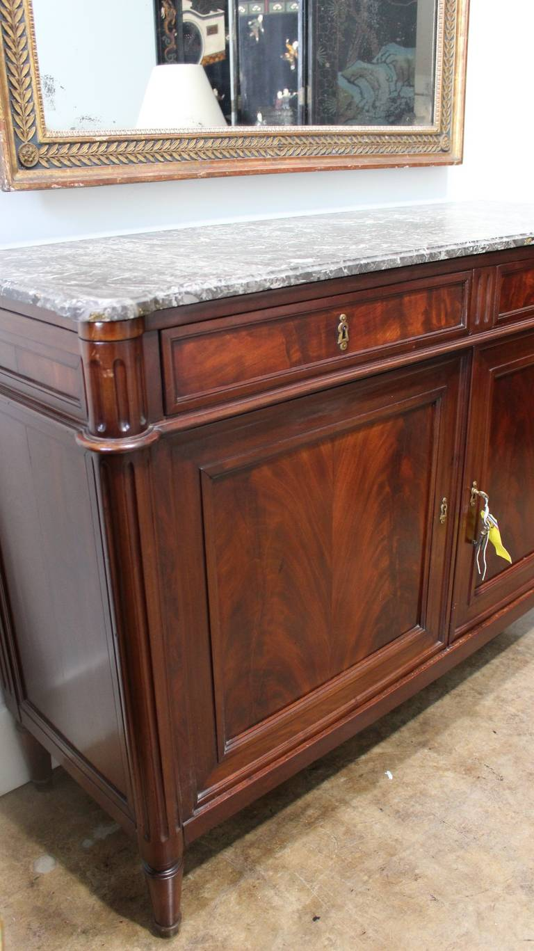 Marble Top Buffet ~ Louis xvi mahogany buffet with marble top for sale at stdibs
