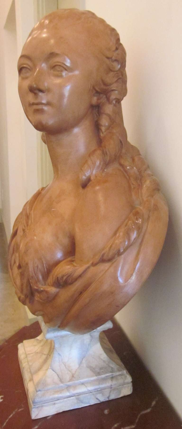 19th Century French Terracotta Bust of Madame du Barry For Sale
