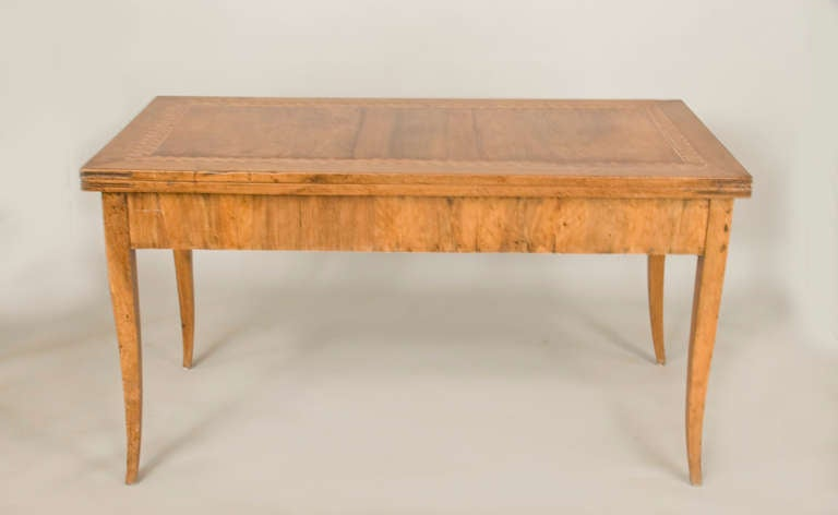 19th century french walnut flip top table at 1stdibs for Table th rotate