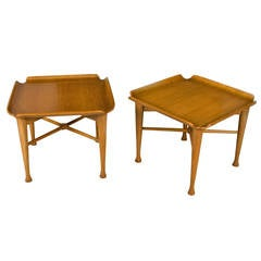 Unique Pair of Danish End Tables