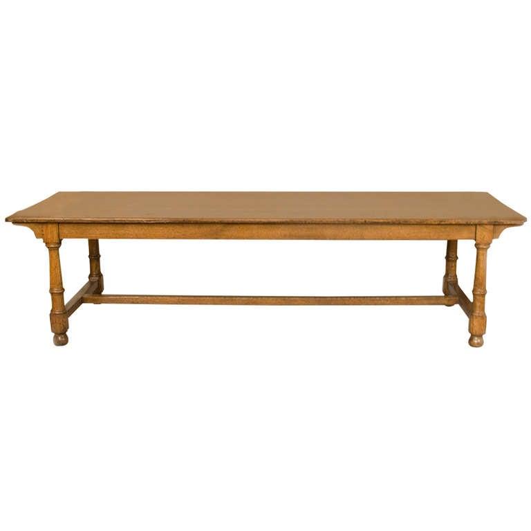large 19th century english farm table