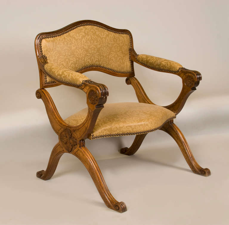 19th Cent Campain Metamorphic Low Chair Prayer Stool