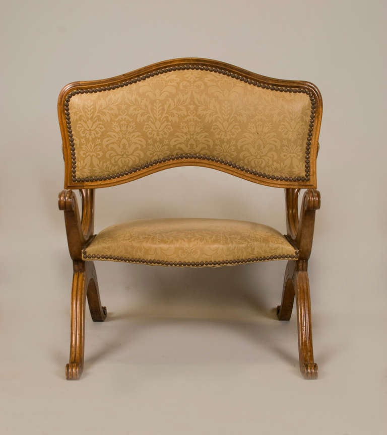 Walnut 19th Cent. Metamorphic Low Chair / Prayer Stool / Prie Dieu For Sale