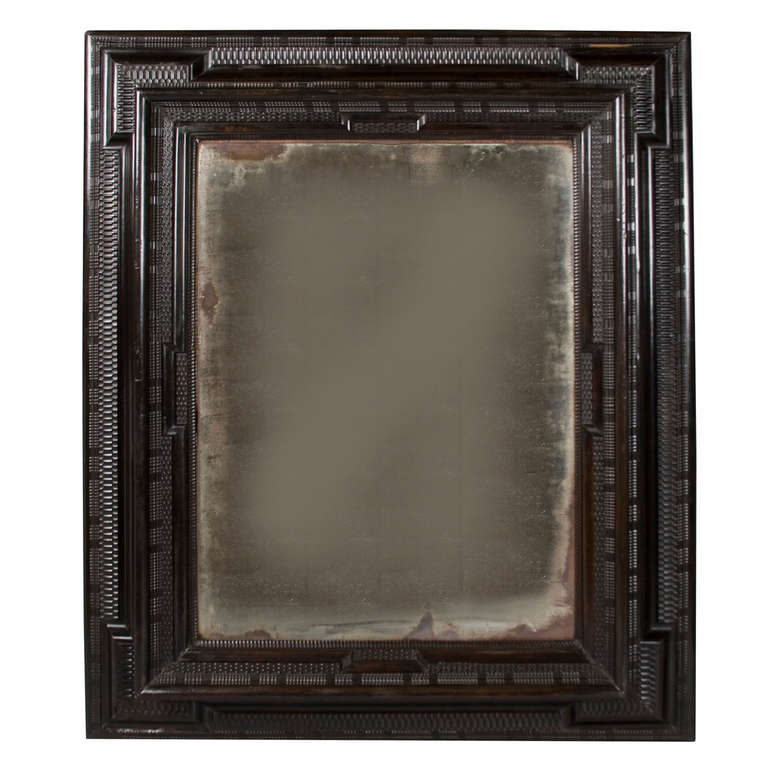 17th century flemish mirror of unusual large size for sale