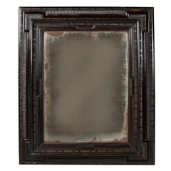 17th Century Flemish Mirror of Unusual Large Size