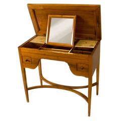 Louis XVI Walnut Ladies Desk or Dressing Table