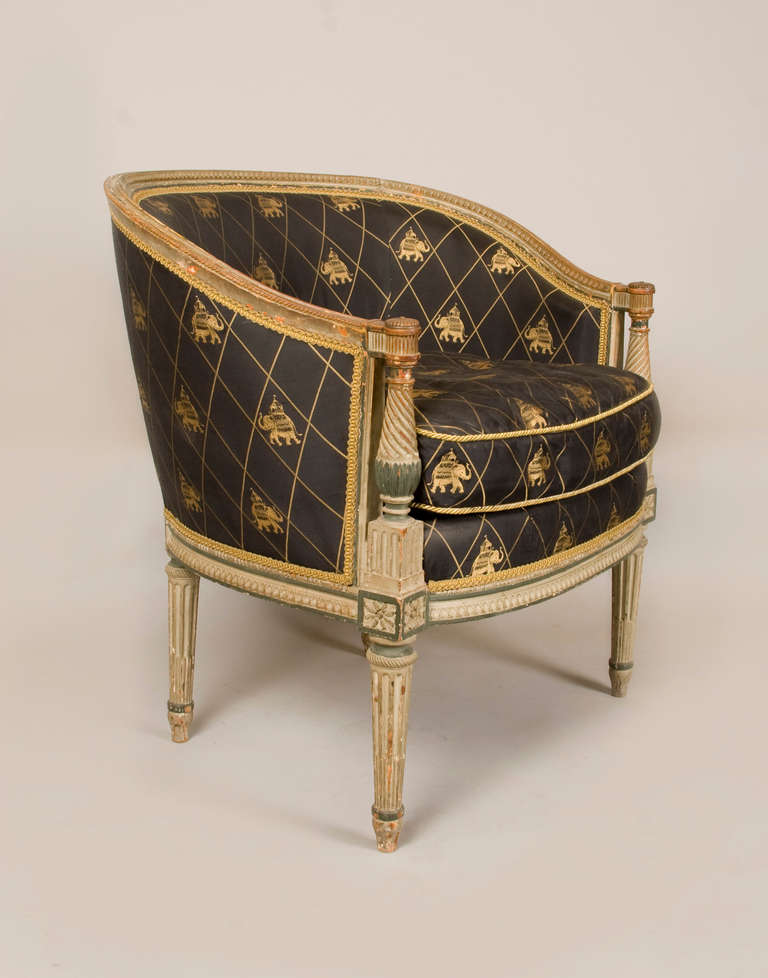 Late 18th-Early 19th Century Directoire Bergere In Excellent Condition For Sale In San Francisco, CA