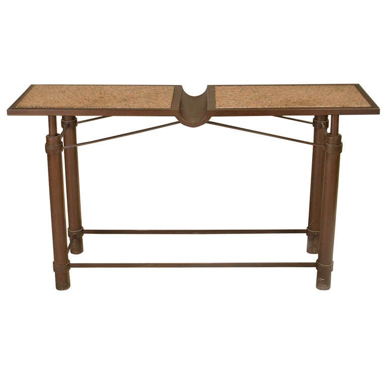 Mid century iconic console table by jean michel wilmotte for Iconic mid century modern furniture