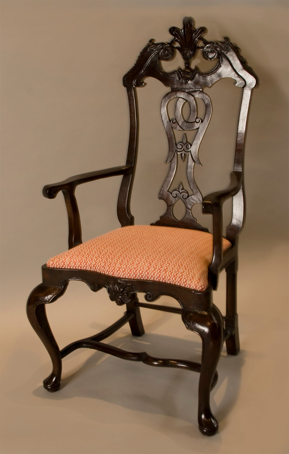 Set of six portuguese rococo dining chairs for sale at stdibs